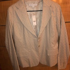 NWT New York and Co Tan Lace Blazer